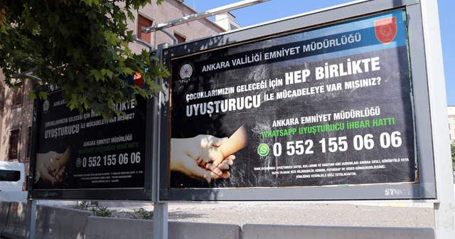Ankara Emniyeti, uyuşturucu ile 'WhatsApp ihbar hattı'ndan mücadele edecek