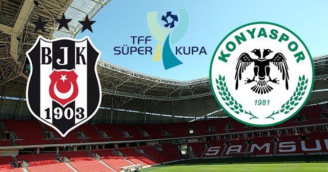 Beşiktaş Konyaspor Süper Kupa maçı Full Özeti ve Golleri   BJK-KONYA maçı kaç kaç bitti (1-2)