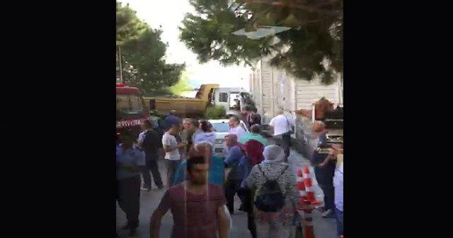 Beykoz'da kalp krizi geçiren hafriyat kamyonu sürücüsü 3 araca çarptı