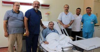 Hava ambulansıyla Gaziantep'e getirilen hasta yeniden yaşama tutundu