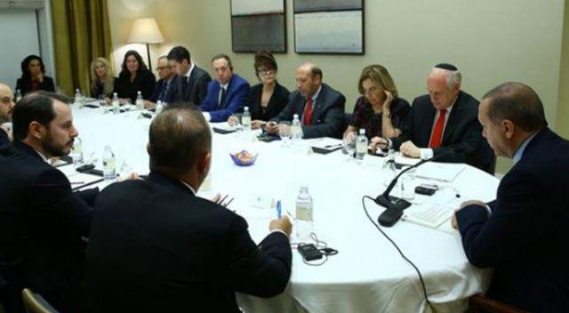 Erdoğan, Yahudi kuruluş temsilcilerini kabul etti