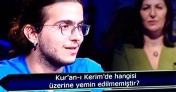 Kur'an-ı Kerim'de hangisi üzerine yemin edilmemiştir? Sorusu Cevap   1 Milyonluk Sorunun Cevabı Burada