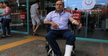 Kurban keserken rastgele kurşunla ayağından yaralandı