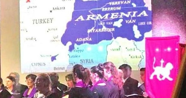 Köln'de skandal harita!