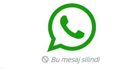 Whatsapp neden açılmıyor Whatsapp yazı nasıl geri alınır?   WhatsApp'ın mesaj silme özelliği devrede
