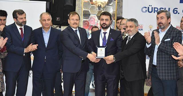 """AK Parti Gürsu ilçe kongresi """"Mustafa Yıldırım ile devam"""" dedi"""