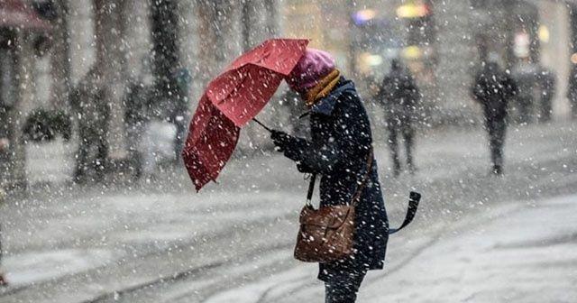 İstanbul'da kar öğle saatlerinde başlıyor | Yurt genelinde hava durumu (14 Ocak)