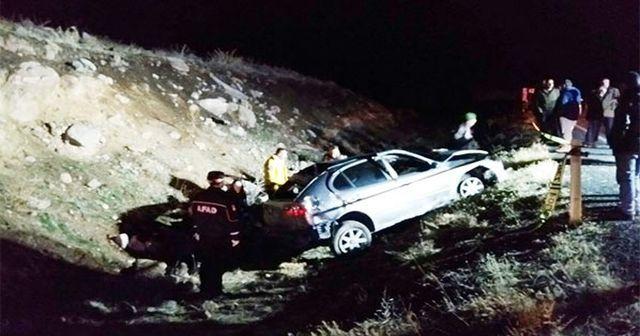 Niğde'de korkunç kaza! Otomobil takla attı