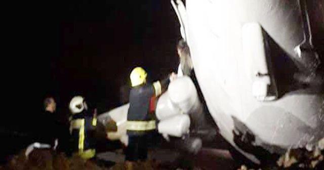 Trabzon Havalimanı'na iniş yapan Ankara uçağı pistten çıktı