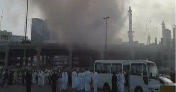 Mekke'de işçilerin kaldığı konteynerlerde yangın çıktı
