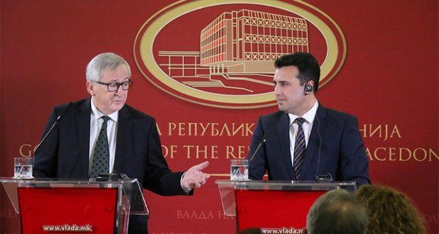 AB Komisyonu Başkanı Juncker, Makedonya'da