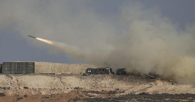 Afrin'de terör hedefleri yerle bir ediliyor
