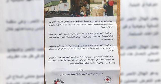 Afrin'deki PYD/PKK sığınaklarında Kızılhaç yardımı bulundu