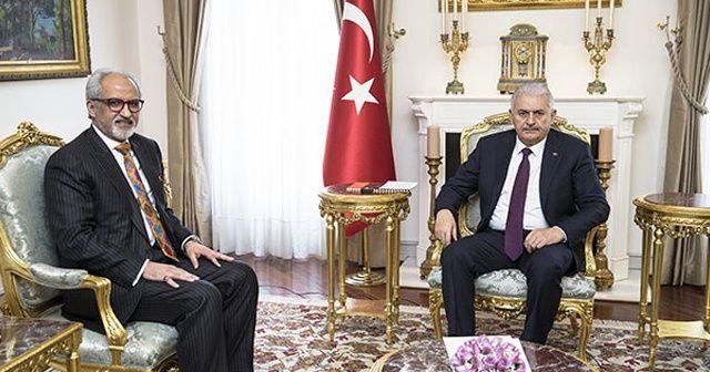 Başbakan Yıldırım Kuveyt'in Ankara Büyükelçisi el-Zevavi ile görüştü