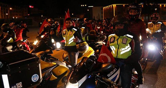 Motosikletçilerden 'Zeytin Dalı' operasyonuna destek korteji