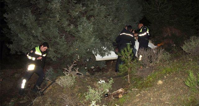 Trafik cezasına kızdı, otomobili uçuruma devirdi
