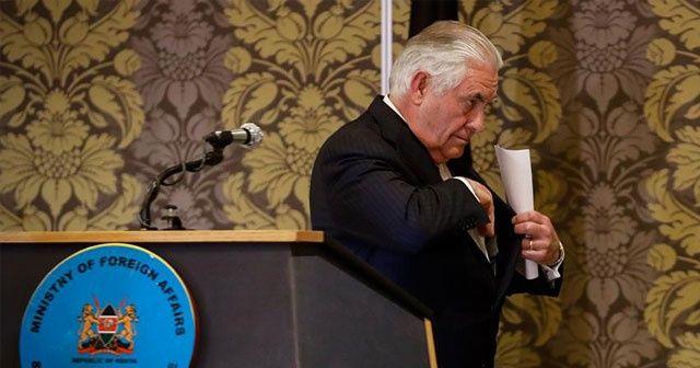 ABD Dışişleri Bakanı  Tillerson Kenya'da rahatsızlandı