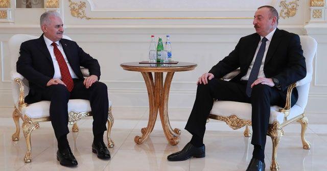 Başbakan Yıldırım, Cumhurbaşkanı Aliyev'le görüştü