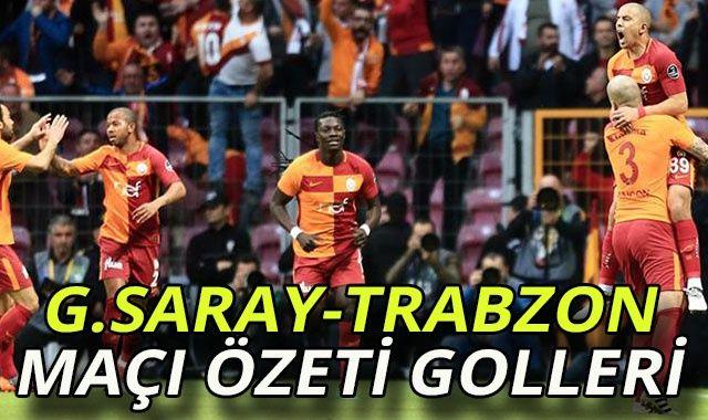 ÖZET İZLE Galatasaray 2-1 Trabzonspor Özeti Golleri İZLE! GS-Trabzon Derbi Maçı Kaç Kaç Bitti?