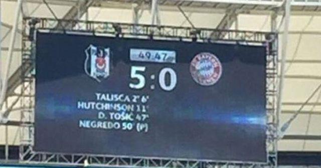 Sosyal medyayı yıkan görüntü! Beşiktaş 50. dakikada 5-0'ı yakaladı!