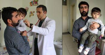 2 yaşındaki Hüseyin'inin akciğerinden kabak çekirdeği çıktı