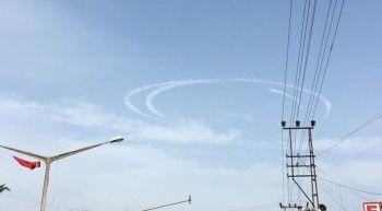 Savaş uçakları Hatay semalarında 'Hilal' oluşturdu