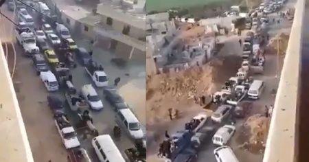 Afrin'den sivillerin en net kaçış görüntüleri