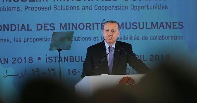 Cumhurbaşkanı Erdoğan: Çifte standart karşısında sahada olmamız gerekiyor