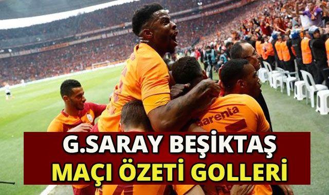 Galatasaray 2-0 Beşiktaş Maçı Özeti Golleri İzle! GS-BJK Maçı Kaç Kaç Bitti? Galatasaray Beşiktaş Derbi Golleri
