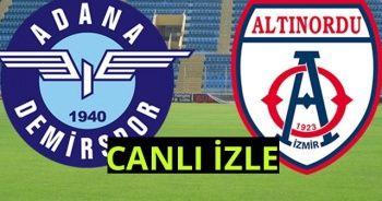 Adana Demirspor 0-0 Altınordu Maçı Özet İZLE! Adana Demirspor-Altınordu maçı kaç kaç?