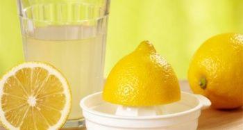 Temizliğe bile limon