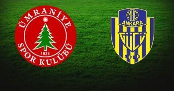 Ümraniyespor 1-1 Ankaragücü maçı Özet izle | Ümraniyespor Ankaragücü maçı kaç kaç bitti?
