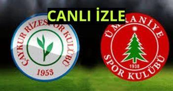 Ümraniyespor 0-1 Çaykur Rizespor maçı ÖZET İZLE! Ümraniyespor-Çaykur Rizespor Skoru Kaç Kaç?