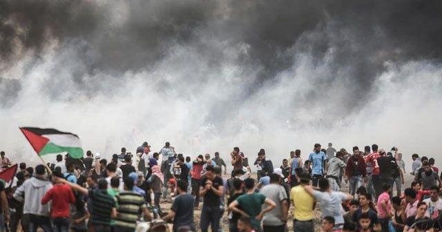 Gazze'deki Büyük Dönüş Yürüyüşü'nde yedinci cuma
