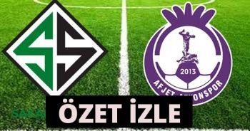 Sakaryaspor 1-2 Afjet Afyonspor Maçı özeti golleri İzle! Sakaryaspor Afjet Afyonspor maçı geniş özeti izle