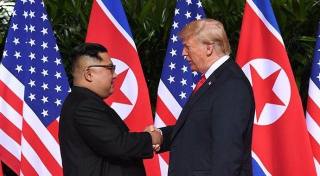 Trump ve Kim, Singapur'da görüştü
