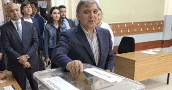 Abdullah Gül'ün oy sandığından çıkan isim