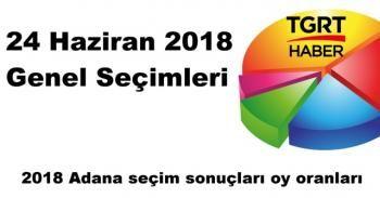 Adana seçim sonuçları açıklandı mı? | 2018 Adana seçim sonuçları oy oranları sorgula