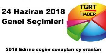 Edirne seçim sonuçları açıklandı mı? | 2018 Edirne seçim sonuçları oy oranları SORGULA