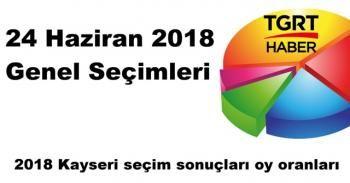 Kayseri Seçim Sonuçları açıklandı mı? | 2018 Kayseri seçim sonuçları oy oranları SORGULA