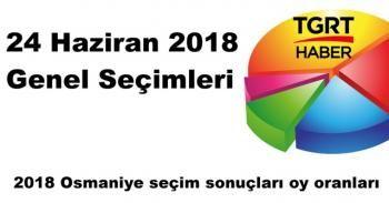 Osmaniye seçim sonuçları açıklandı mı? | 2018 Osmaniye seçim sonuçları oy oranları sorgula