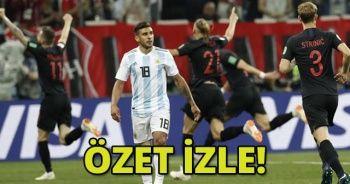 ÖZET İZLE! Arjantin 0-3 Hırvatistan Maçı geniş özeti golleri izle! Arjantin - Hırvatistan Maçı kaç kaç bitti?