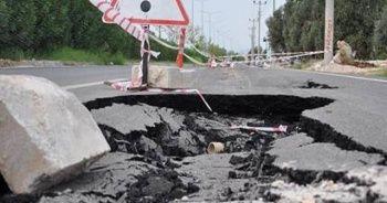 Zonguldak'ta asfalt çöktü