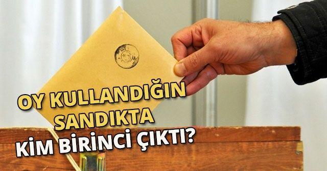 24 Haziran Oy kullandığın sandıkta kim birinci çıktı? Oy sandığı sorgulama ekranı