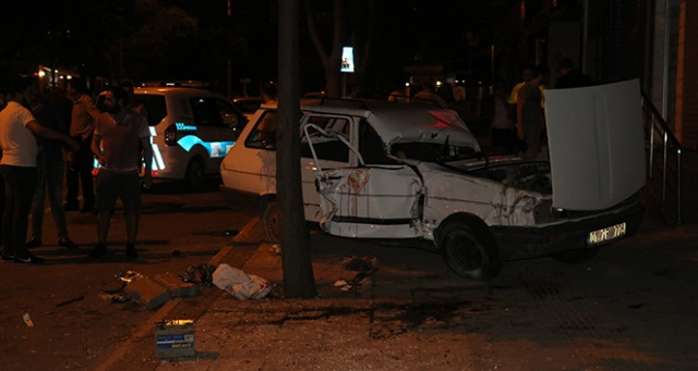 Alkollü sürücü takla attı: 1 ağır yaralı