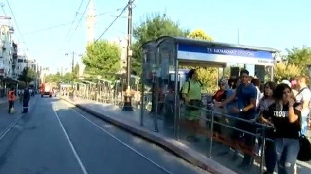 Sultanahmet'te tramvay seferleri yeniden başladı