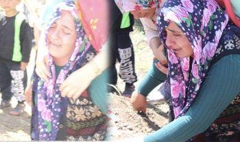 Acılı anne Leyla'nın mezara sarılarak gözyaşlarına boğuldu