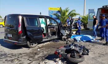 Antalya'da feci kaza: 1 ölü, 2 yaralı