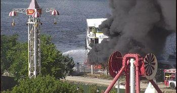 Haliç'te deniz taksilerde yangın çıktı!