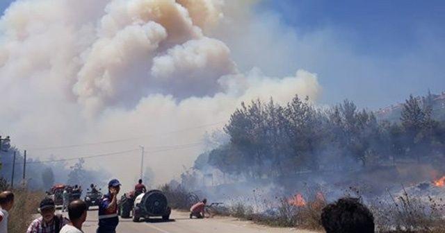 Bursa'daki yangında tehdit unsuru oluşturan yerler boşaltılıyor